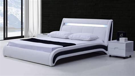 led lit lits en cuir design mobilier cuir