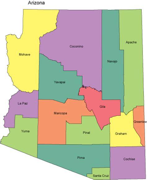 arizona county map arizona powerpoint map counties