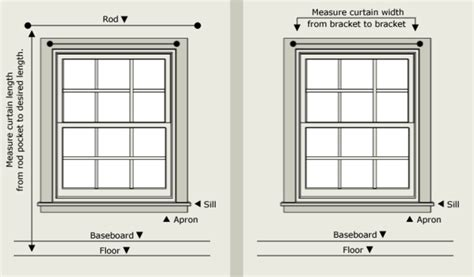 how to measure curtain rod width window treatment sizing