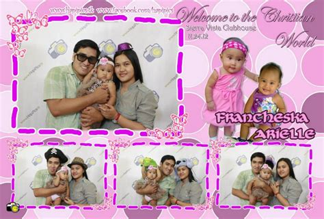 photo booth layout for baptism franchesca arielle christening hapipics photo booth