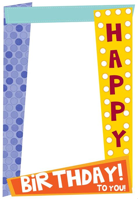 picture frame birth day card template free free birthday frames free clip free