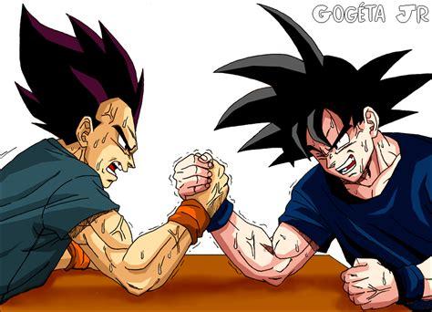 imagenes de goku x caulifla goku vs vegeta battles comic vine