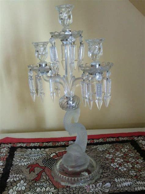 un candelabro antiguo aqui antiguo candelabro cristal de baccarat de tres comprar