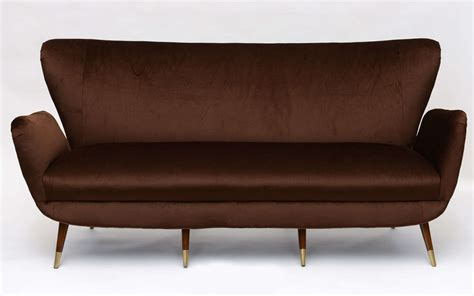 wing back sofa luxurious italian mid century wing back sofa at 1stdibs