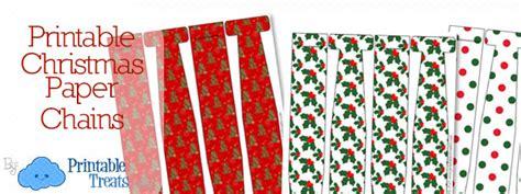 free printable christmas paper chains print christmas paper chains printable treats com