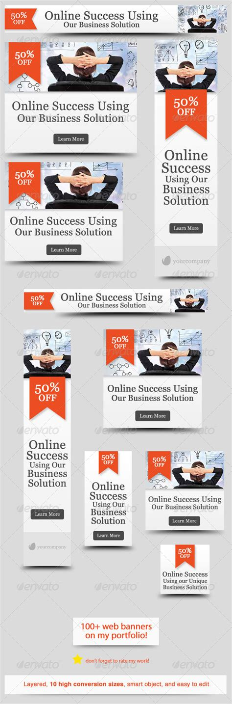 Corporate Web Banner Design Template 29 By Admiral Adictus Graphicriver Website Advertisement Template