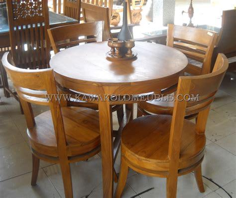 Meja Makan Bundar Kayu Jati harga set kursi makan jati meja bundar furniture antik