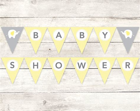 printable banners for baby shower 7 best images of yellow baby shower banner printable