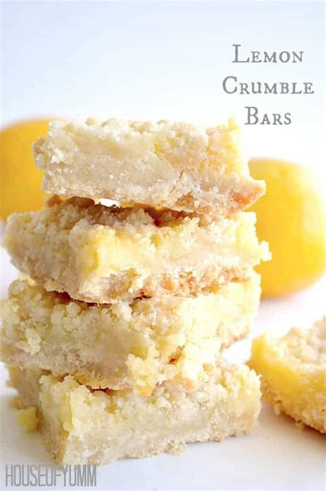 lemon bar topping lemon crumble bars
