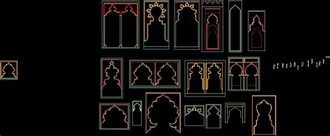 islamic pattern elevation islamic arches 2d dwg elevation for autocad designscad