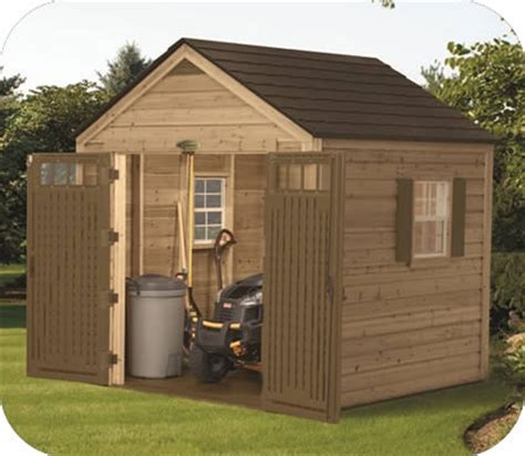 8x8 Storage Sheds by Suncast 8x8 American Hybrid Wood And Resin Shed Kit Wrs8800