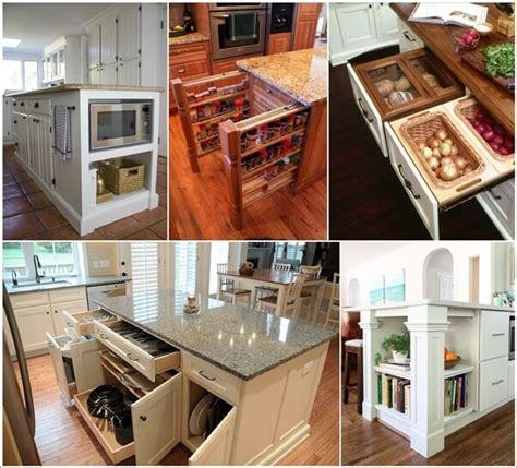 kitchen island storage design 39 clever kitchen island designs with storage
