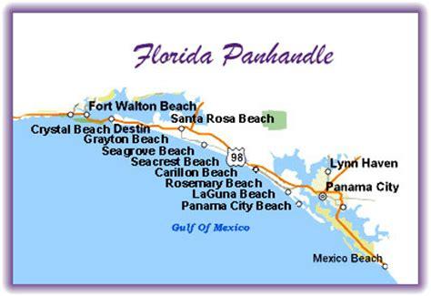 map florida panhandle beaches vacation in the sun florida panhandle and disney