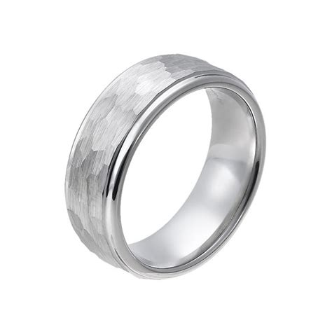 size 16 mens wedding bands sale mens hammered tungsten carbide mens wedding