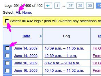 tip: merging logs into a single google earth (kml) file