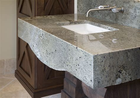 Marble Countertop For Bathroom by Bath Modlich Stoneworks