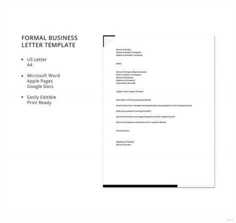 formal letter formats apple pages google