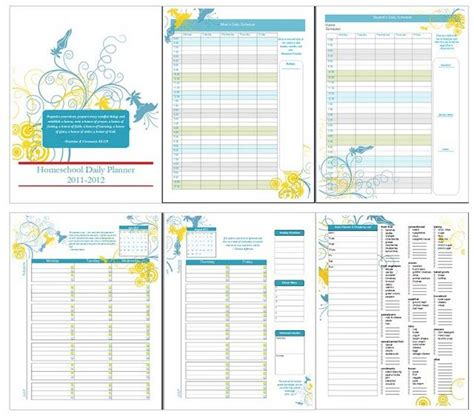 free printable homeschool planner pages free printable homeschool planner homeschool pinterest