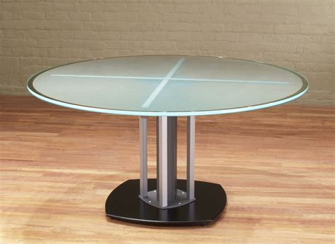 Round Glass Top Meeting Table   Frosted Glass Meeting Table   Stoneline Designs
