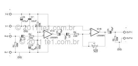 lm358 integrator circuit gt circuits gt circuit audio pre lifier integrated circuit lm358 dual op l55094 next gr