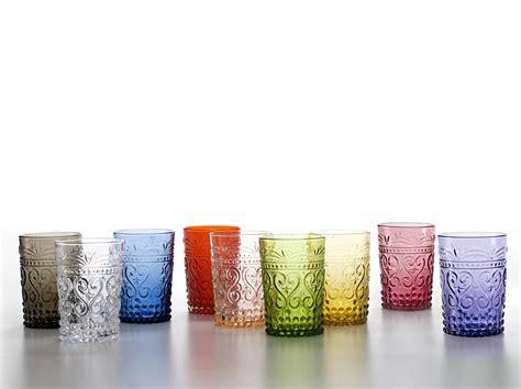 bicchieri zafferano bicchieri tumbler calici caraffa piatti colorati