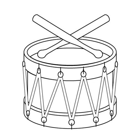 toy drum outline cards music pinterest coloring
