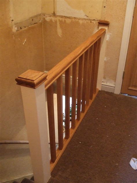 pin stair banister rails on