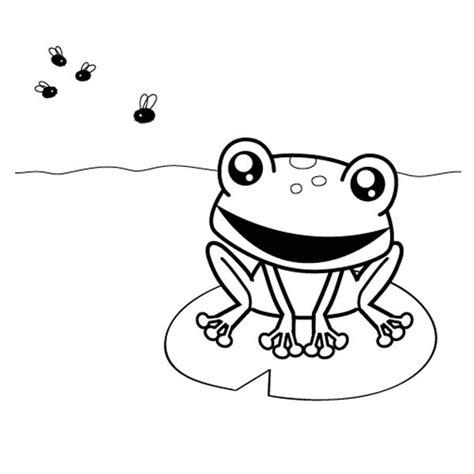 Imagenes De Ranas Bonitas Para Dibujar   rana cazando moscas dibujo para colorear e imprimir