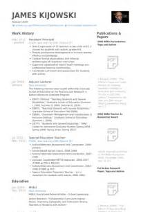 Sle Assistant Principal Resume by Assistant Principal Resume Sles Visualcv Resume Sles Database