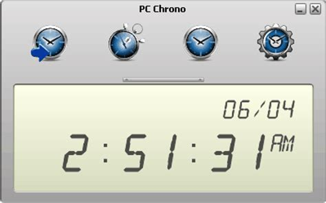 pc chrono portable alarm clock usb pen drive apps