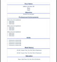 Professional Resume Templates Microsoft Word by Professional Word Resume Template Open Resume Templates