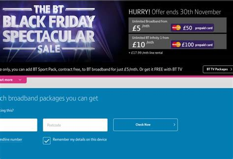 bt infinity sale bt spectacular november sale with exclusive packages