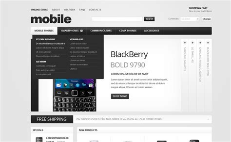 mobile store template mobile store virtuemart template 37317