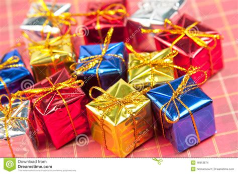 many small christmas gifts stock photo image of rolled