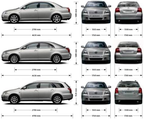 toyota dimensions 2003 toyota avensis dimensions crafts