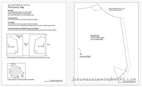 pattern making books free download pdf sew along day 1 the granny bag japanese sewing