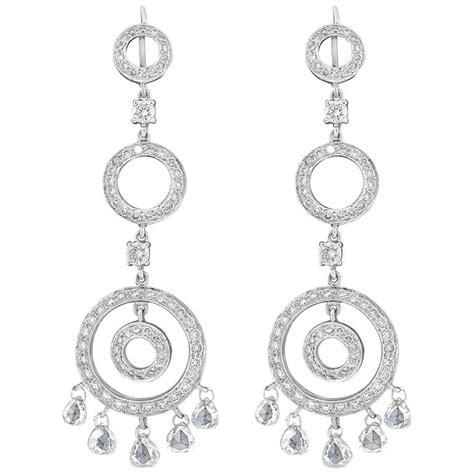 White Chandelier Earrings Chandelier Earrings In White Gold For Sale At 1stdibs