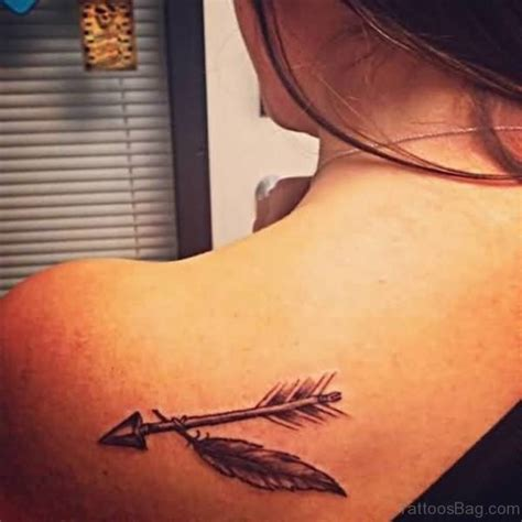 arrow and feather tattoo 60 impressive feather tattoos for back