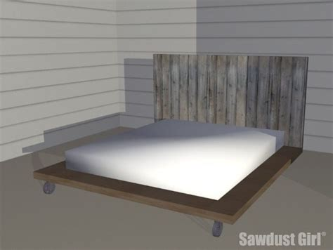 industrial platform bed industrial platform bed woodworking plans sawdust girl 174