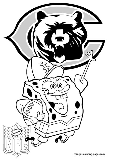 nfl bears coloring pages chicago bears spongebob coloring pages