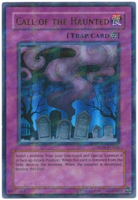 Yugioh Call Of The Haunted Original call of the haunted hl06 en005 ultra parallel yu gi oh promo cards yugioh