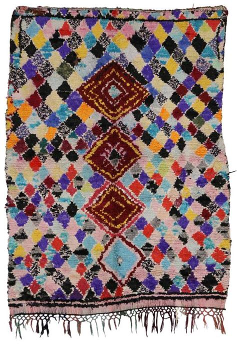boho chic rugs azilal vintage berber moroccan rug with boho chic tribal style for sale at 1stdibs