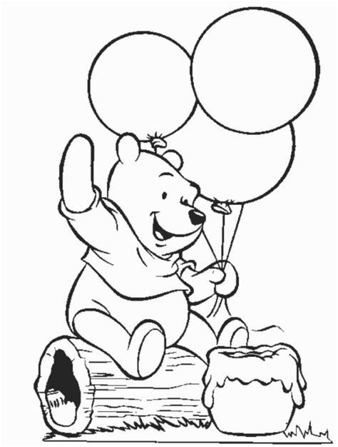 halaman belajar mewarnai gambar winnie the pooh yang lucu untuk anak