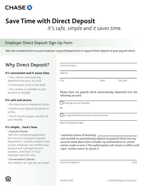 authorization letter for bank deposit in free bank direct deposit form pdf eforms free