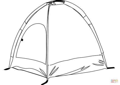 tent template cing tent coloring page free printable coloring pages