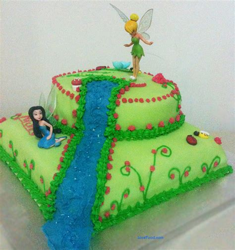 tinkerbell cake step  step