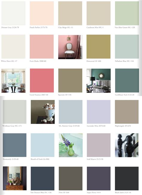 benjamin color chart favorites from the 2014 paint color forecast paint it