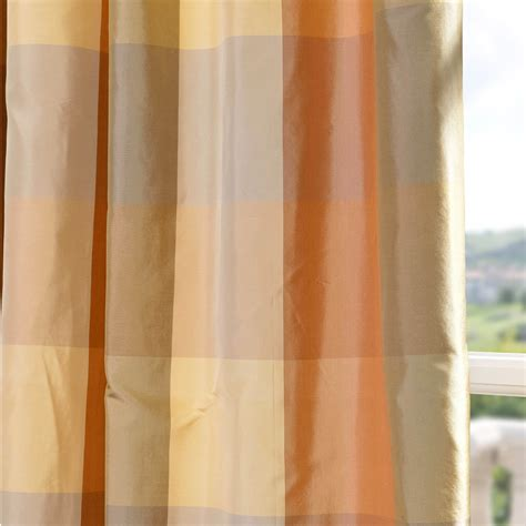 plaid silk curtains shop genoa silk taffeta plaid curtains drapes