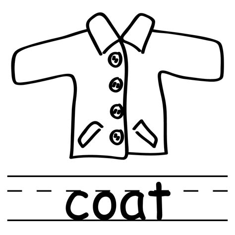 clip art basic words pants b w labeled abcteach