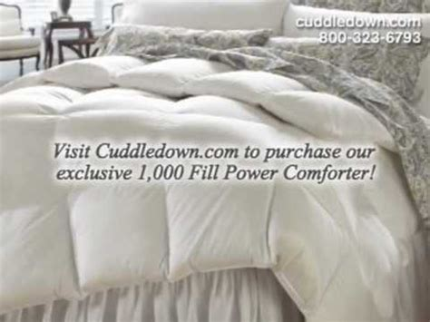 1000 fill power down comforter cuddledown s manufacturing manager on down fill power and